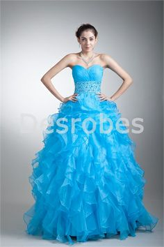 Light Sky Blue Quinceanera Dresses 2017 Sweetheart Beaded Sash Ruffles Tiered Long Ball Gown Debutante Gowns dress for 15 years Princess Prom Dresses, Prom Dresses Blue, Pretty Dresses, Beautiful Dresses, Dress Prom, Wedding Dresses, Sweet 16, Cheap Quinceanera Dresses, Tinkerbell