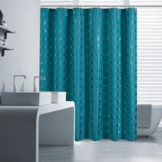 Uphome 72 X 72 Inch Chic Solid Round Shaped Pattern Kids Bathroom Shower Curtain - Teal/Deep Green Waterproof and Non-mildew Polyester Fabric Curtains Bathroom Decoration Designs
