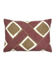 Cushion Cover Linen Bali - Ruby/Dark Oak 40 x 60 cm. Made from linen and hand printed. This linen cushion covers is made of a special 2 ply linen woven at a small cottage industry in eastern India. The linen is then hand printed in northern India usi 2 Ply, Cushion Covers, Bali, Cushions, Throw Pillows, Prints, Cushion, Pillows, Pillow Shams