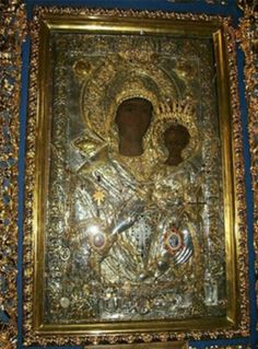 """The Icon """"Axion Estin"""", which is treasured on Mount Athos is of the Hodeghetria """"Directress"""" stasis and prototype. Christian World, Early Christian, Christian Art, Religious Paintings, Religious Art, Monastery Icons, Divine Mother, Byzantine Icons, Holy Mary"""