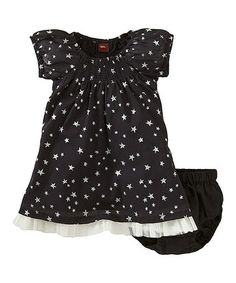 Another great find on #zulily! Ebony Seeing Stars Dress & Diaper Cover - Infant #zulilyfinds