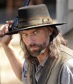 """""""Hell on Wheels"""" is gearing up for its Season 3 return on AMC and has the exclusive first behind-the-scenes look at the western's upcoming season. Just found out that 2015 will be the last season. They broke it up into two parts. Movies Showing, Movies And Tv Shows, Amc Shows, Anson Mount, Western Movies, Western Film, Western Style, Hell On Wheels, Into The West"""