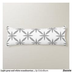 Light grey and white scandinavian trellis pattern body pillow Long Pillow, Grey Home Decor, Trellis Pattern, Grey Cushions, Grey And White, Soft Fabrics, Scandinavian, Vibrant Colors, Style