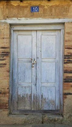 #Blue #Door #CaminoDeSantiagoDeCompostela #Spain