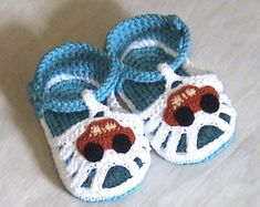 Crochet baby sandals,Crochet boys sandals,Crochet blue and white sandals,Crochet boys shoes,Crochet booties,Cotton sandals