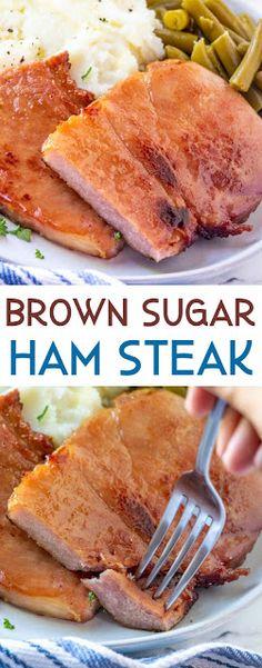 Ham Steak Recipes, Brown Sugar Ham, Yummy Food, Tasty, Delicious Meals, Yummy Yummy, Yummy Treats, Delish, Ham Steaks