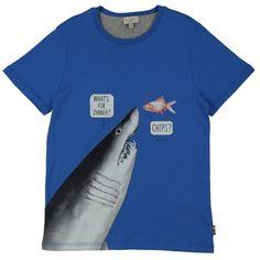 Junior Boy Camiseta de tiburones con de Smith Paul estampado azul qqHRw8z