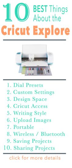 Why I Love my Cricut Explore -- I've owned 4 different cutting machines over the years, and I'll tell you why Cricut is my favorite.  *****   I compare it to the original Cricut, a Silhouette and a Black Cat Cougar.   *****  Read the post for more detailed explanations for everything on my top 10 list, plus find out my bonus reason! ad