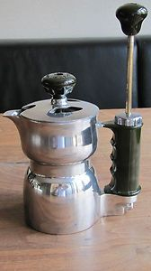 vintage Columbia Creme Steam pressure coffee espresso maker Atomic bakelite