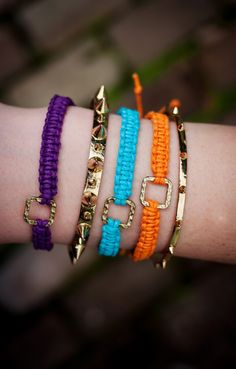 Learn how to make these knot bracelets with this DIY.