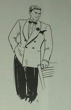 9. 1934 double breasted dinner jacket