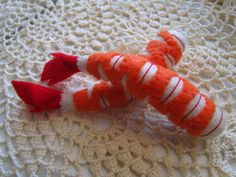 Felt Food Shrimp set (orange) eco friendly pretend play food  for toy kitchen. $8.00, via Etsy.
