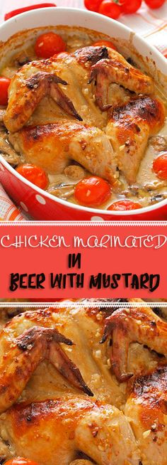 CHICKEN MARINATED IN BEER WITH MUSTARD