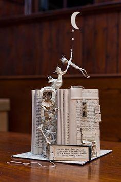 Peter Pan book sculpture by an anonymous Scottish artist