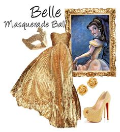 """""""Belle (Masquerade Ball)"""" by idmiliris ❤ liked on Polyvore"""