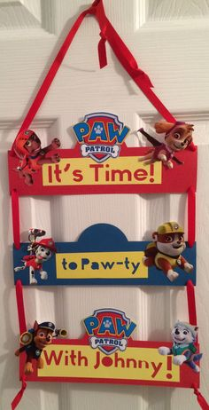 Paw Patrol Door Sign by PresentsFromTheHeart on Etsy