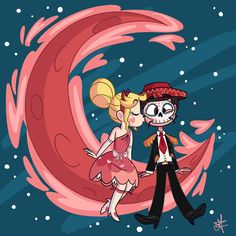 Mica's Art — Blood Moon of lovers 🌙 ❤️ Starco Comic, Cartoon Wallpaper Hd, Star Force, Evil Art, Princess Drawings, Blood Moon, Star Butterfly, Star Wars, Star Vs The Forces Of Evil