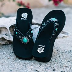 Orean Sandal -  Add a little western flair to your outfit. The Orean is a perfect addition to show off your southern style. The sandal features a comfortable square-toe EVA foam footbed. The embossed leather strap is embellished in metal and turquoise-like rivets.