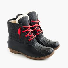 Shop the Women's Sperry for J.Crew Shearwater flannel boots at J.Crew and see the entire selection of Women's Footwear. Cute Winter Boots, Sperry Duck Boots, Winter Duck Boots, Winter Shoes For Women, Snow Boots Women, Winter Wear, Duck Boots Outfit, Women's Boots, Frozen