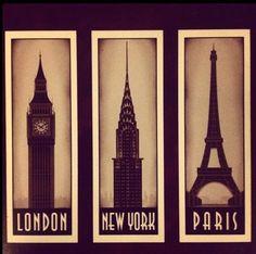 MY THREE FAVORITE CITIES!