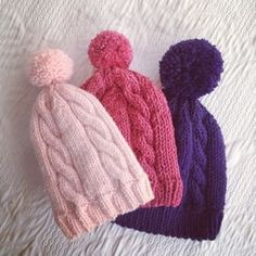 tutorial berretto trecce Cute Crochet, Knit Crochet, Crochet Hats, Baby Knitting Patterns, Knitting Designs, How To Purl Knit, Baby Hats, Knitted Hats, Sewing Projects