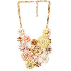 FOREVER 21 Mixed Media Floral Necklace