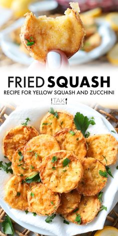 An easy recipe for Southern fried squash and zucchini! Add a little oil to the pan, mix up a cornmeal breading, add some seasoning, and get ready to bite into your new favorite summer squash recipe! The perfect side dish for quick fix dinners and the fix to any comfort food cravings! Easy Squash Recipes, Fried Zucchini Recipes, Summer Squash Recipes, Vegetable Recipes, Fried Zucchini Recipe Cornmeal, Zucchini Fries, Recipe For Yellow Squash And Zucchini, Fried Yellow Squash, Yellow Squash Recipes