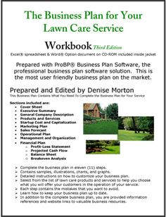 The Business Plan for Your Lawn Care Service