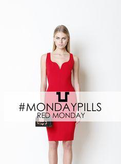 MOOD: Red Monday  #SpaceStyleConcept #FallWinter14 #RedDress #MondayPills