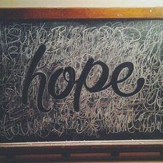 Hope – Chalk Typography