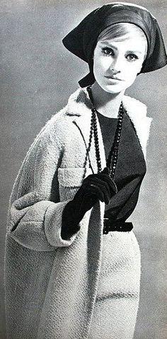 1964 - German model Beate Schulz is wearing ensemble by Yves Saint Laurent, Burda International