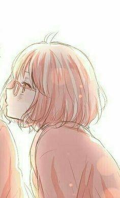 anime: Kyoukai no Kanata Kawaii Cute, Kawaii Anime, Mirai Kuriyama, Cute Couple Cartoon, Exotic Art, Couple Wallpaper, Couples Images, Avatar Couple, Cute Anime Couples