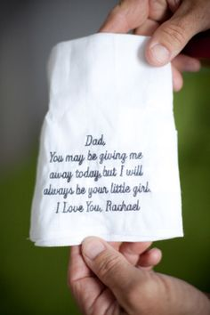 my dad always carries a handkerchief. if i gave this to him he would lose it. :)