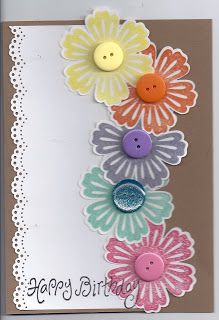 card using stampin up products