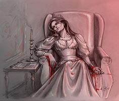 Tissaia's death by Anastasia Kulakovskaya (Witcher)