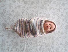 Kokon dla noworodka - wełniane ciepełko - DziergAnki - Kokon dla noworodka
