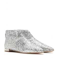 mytheresa.com - Glitter ankle boots - Flat - Ankle boots - Shoes - Miu Miu - Luxury Fashion for Women / Designer clothing, shoes, bags