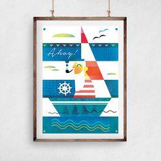 Plakat marynarski AHOY z plakatowisko.pl