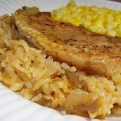 Simply Oven Baked Pork Chops and Rice Recipe