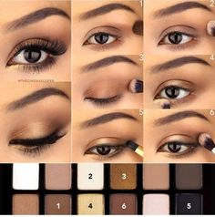 It's as easy as 1-2-3. Create sultry smokey eyes for day with Maybelline The Nudes palette. Browns, bronzes, and taupes look pretty on their own and killer combined.