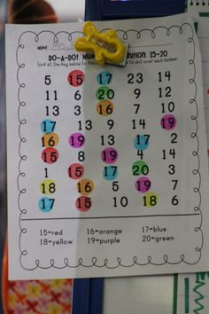 Tricky Teen Reinforcement; dot numbers certain color