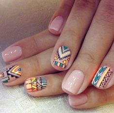 Geometric nails very captivating.