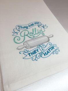 Large tea towel Bakers dish towel tea towel by HoneyBeeEnterprises