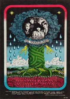 The Youngbloods Postcard - Vintage Postcards from (BG) the Fillmore, Fillmore East, Winterland, and Avalon Ballroom Concerts