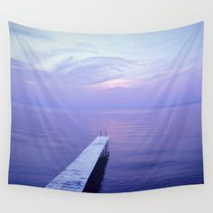Long Dock Wall Tapestry by Pure Nature Photos - $39.00