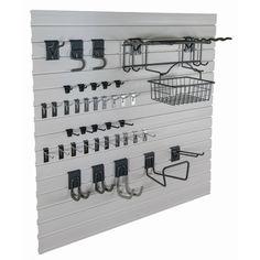 GlideRite Slatwall Garage Organization Garden Kit   Overstock.com