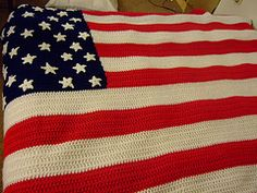 American Flag Afghan pattern by Kathy Wilson - Great for the 4th of July.