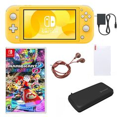 Nintendo Switch Lite with Mario Kart and Accessories - Yellow - 9244606 Nintendo Switch Games, Nintendo Ds, Nintendo Consoles, Online Video Games, Play Game Online, Wii Games, Games To Play, Ninjago Games, Nintendo Switch Accessories