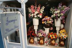 flower shop Window Displays | Room Box Number 30 - Jenny's Flower Shop