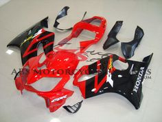 Black & Red 2001-2003 Honda CBR600F4i Motorcycle Fairing, OEM quality aftermarket